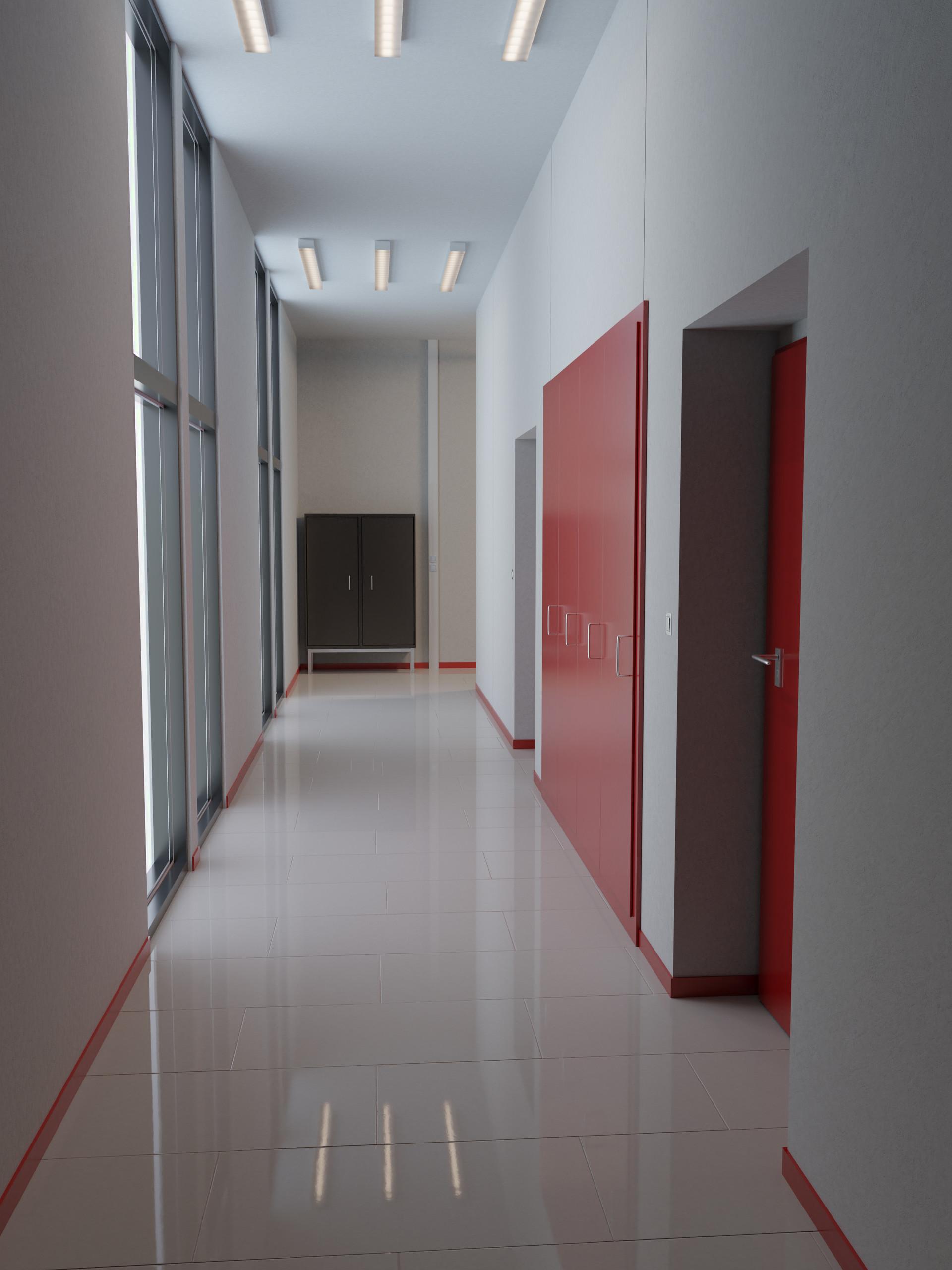 ArtStation - School Corridor, Julian Neri