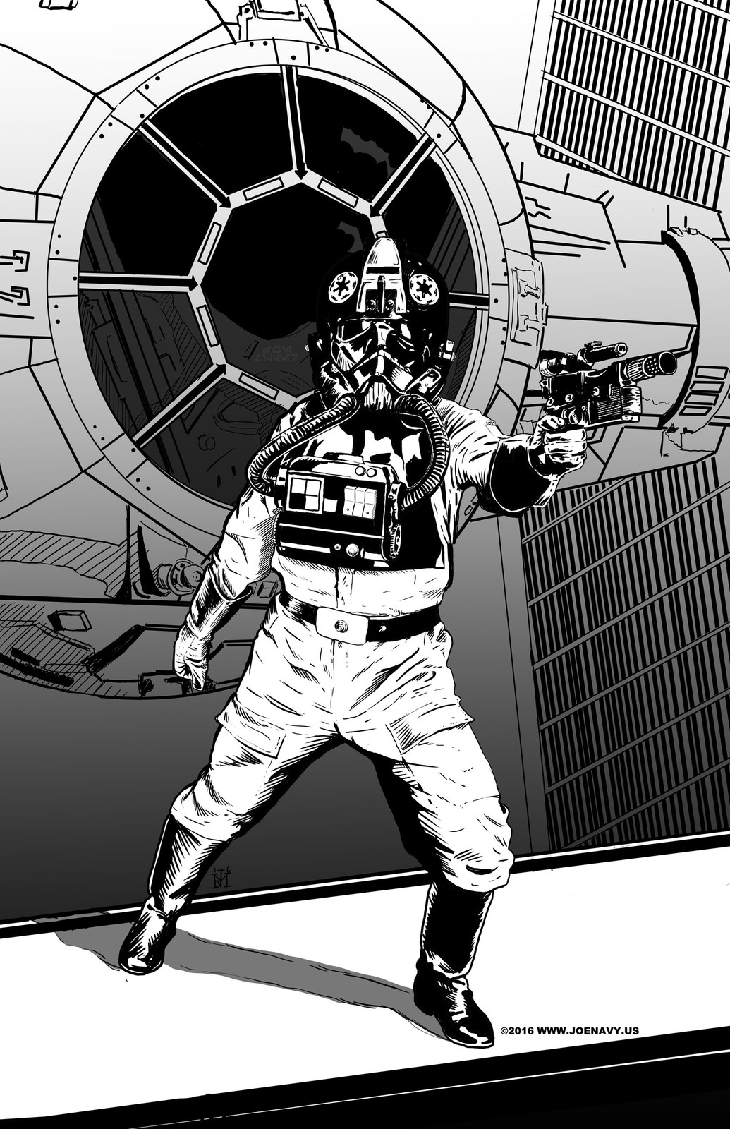 Tie Fighter Pilot Illustration