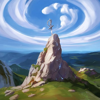 Madeleine bellwoar sword in the stone as