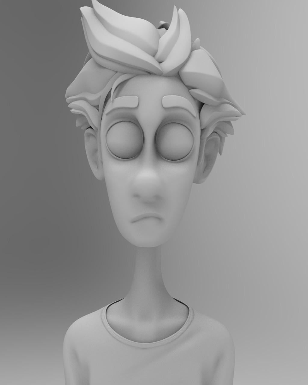 Matte grey Keyshot render