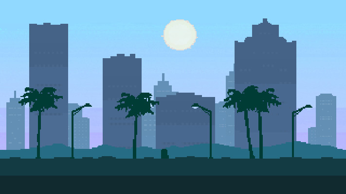 Theophile Curto La City Pixel Art