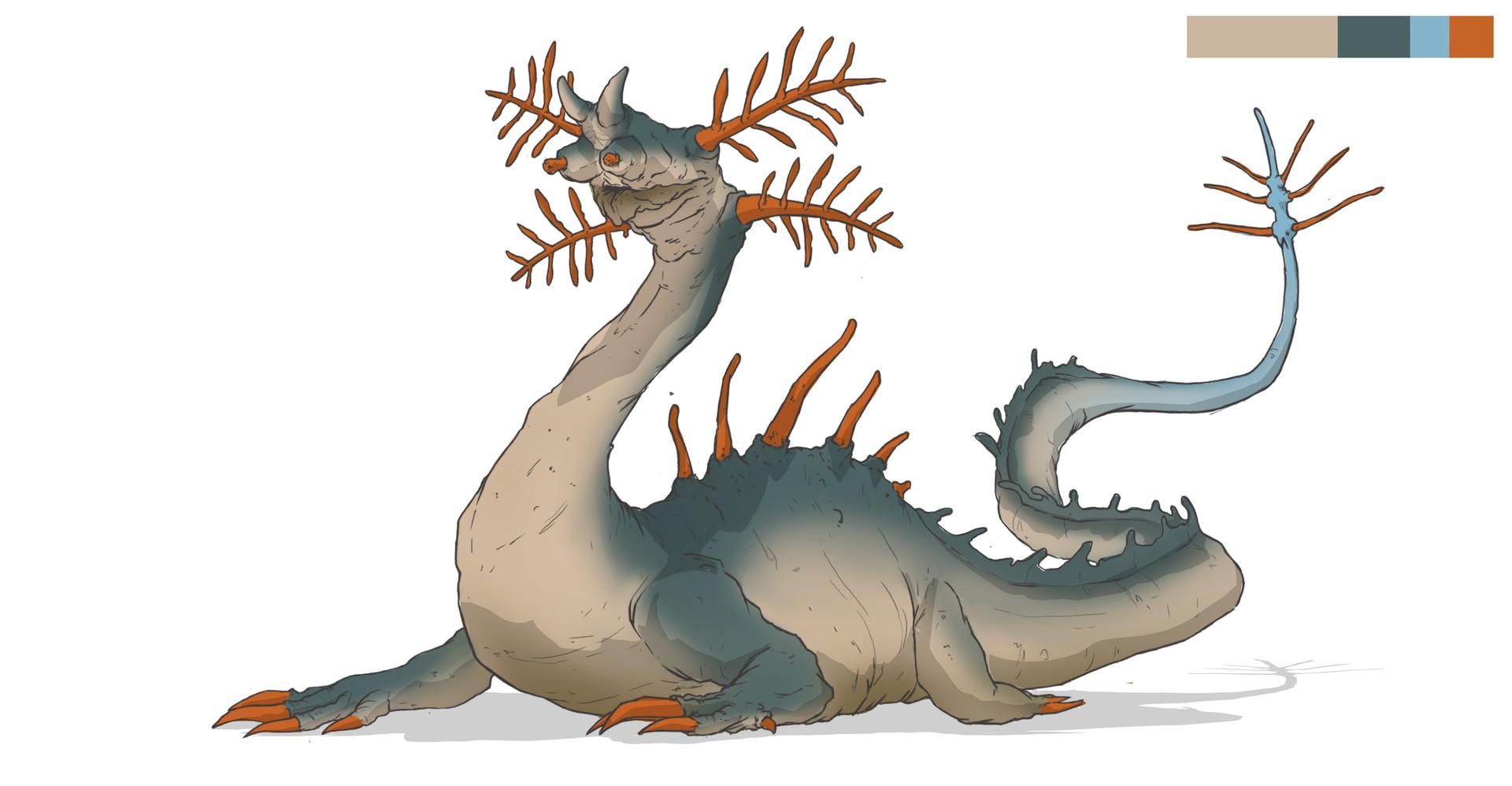 784bd7424905 Charles Lin - Dragon Hunter inspired Dragons - Serpent