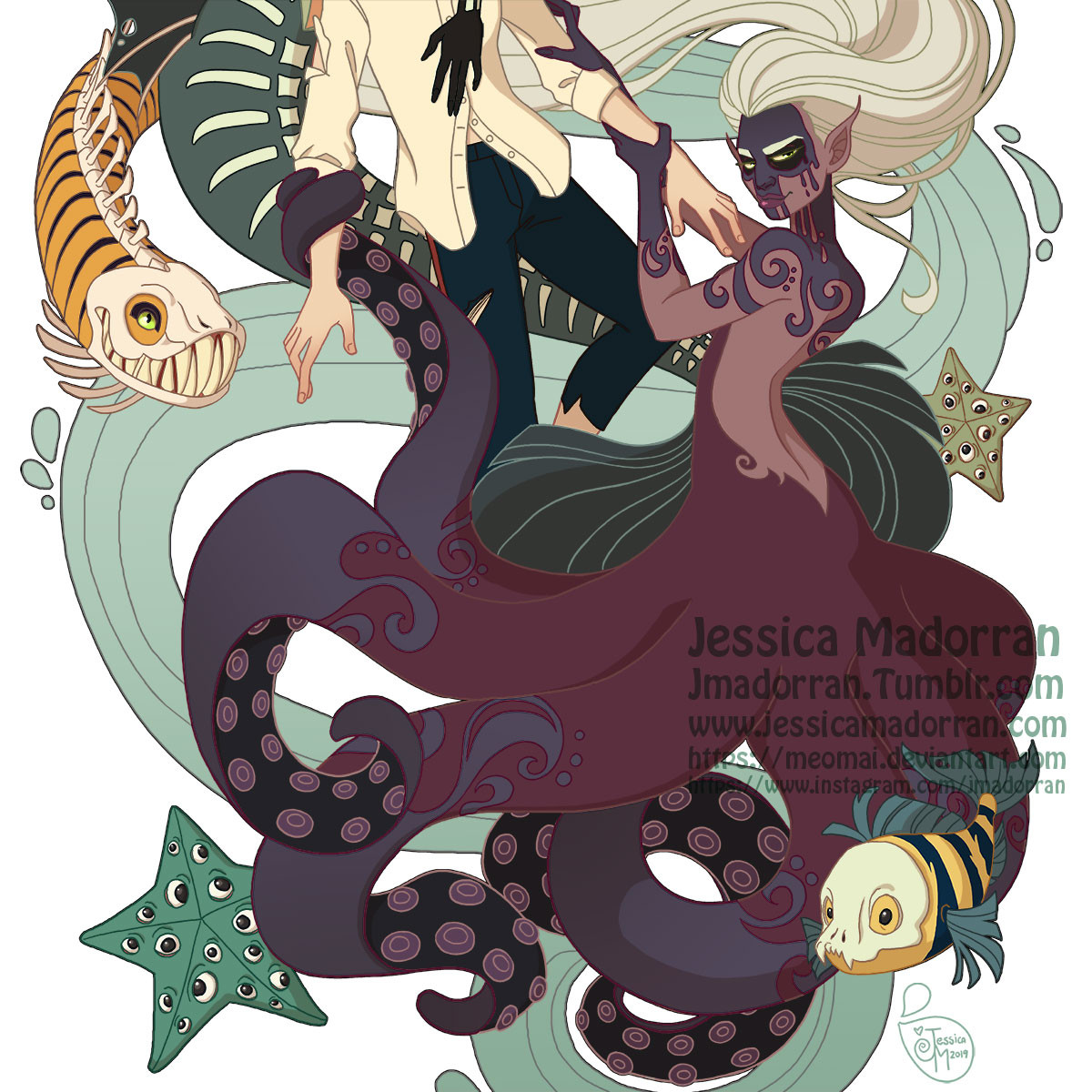Jessica madorran character design little mermaid dayofthedex illustration 2019 artstation artstation02