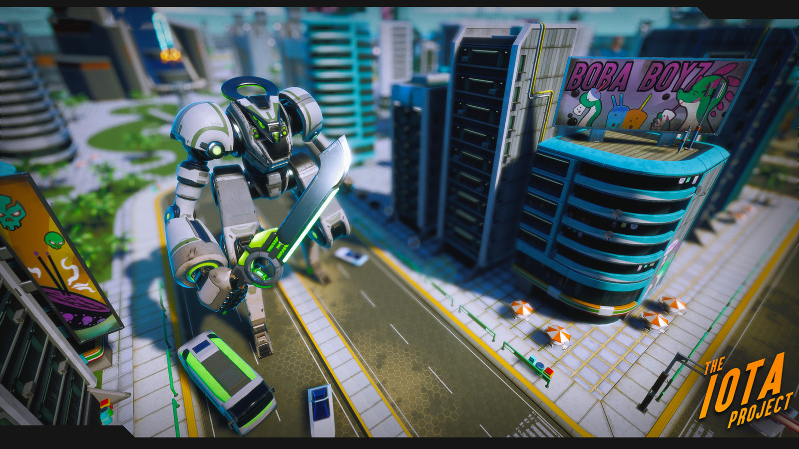 City render - This was our giant mecha enemy!