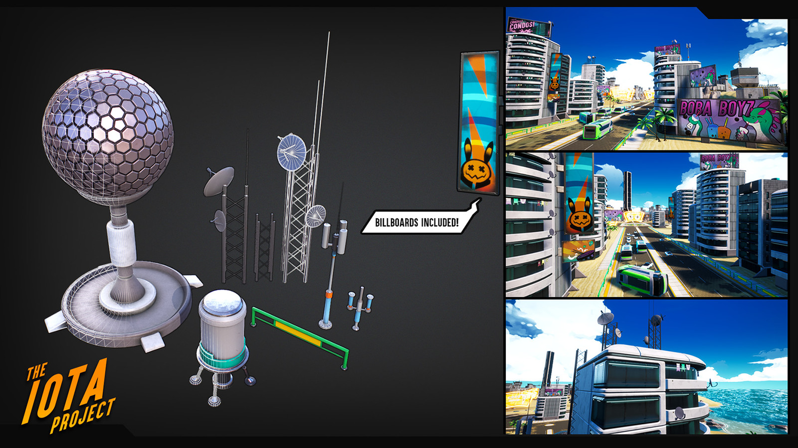 I helped produce additional props for the buildings and roads