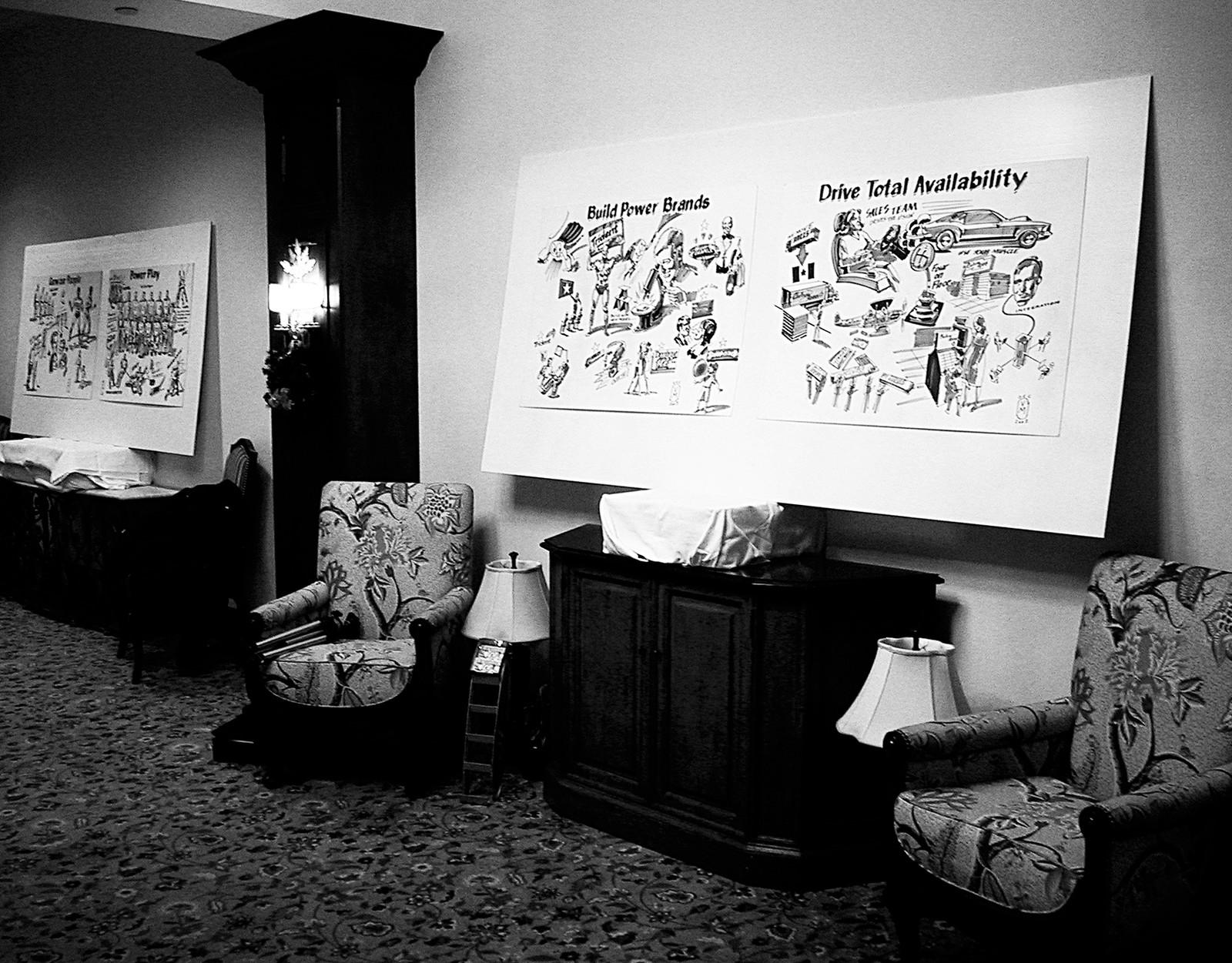 Displayed at the Cadbury/Adams national conference at the Deer Hurst Inn, Ontario, Canada.