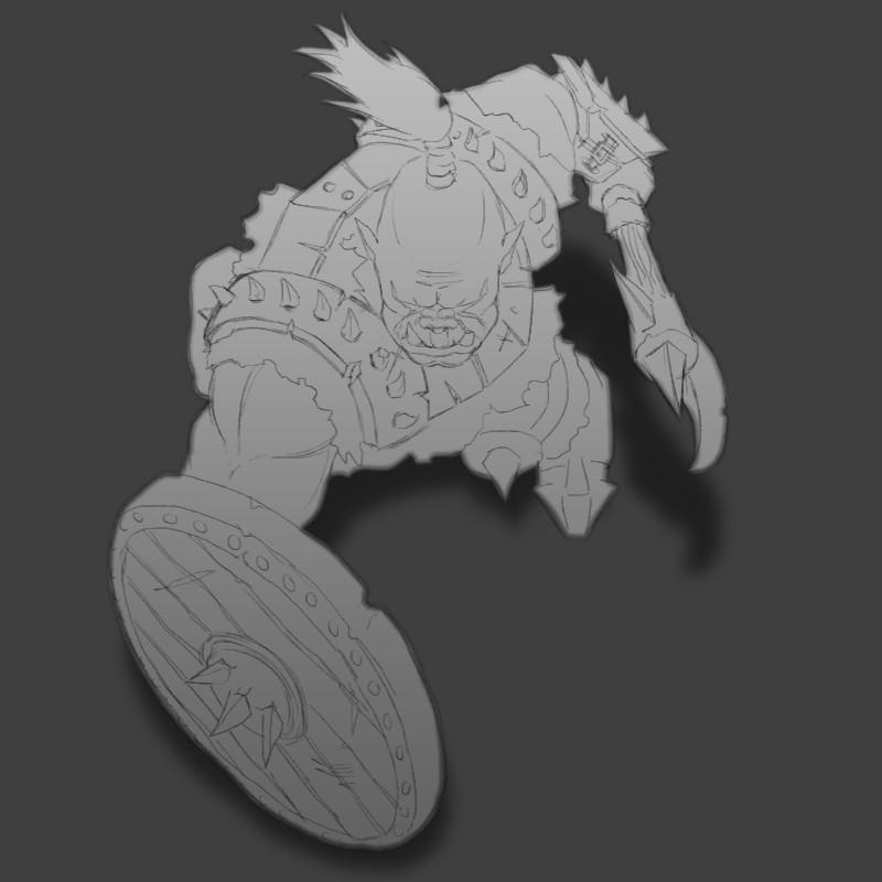 Orc Shield Bearer sketch