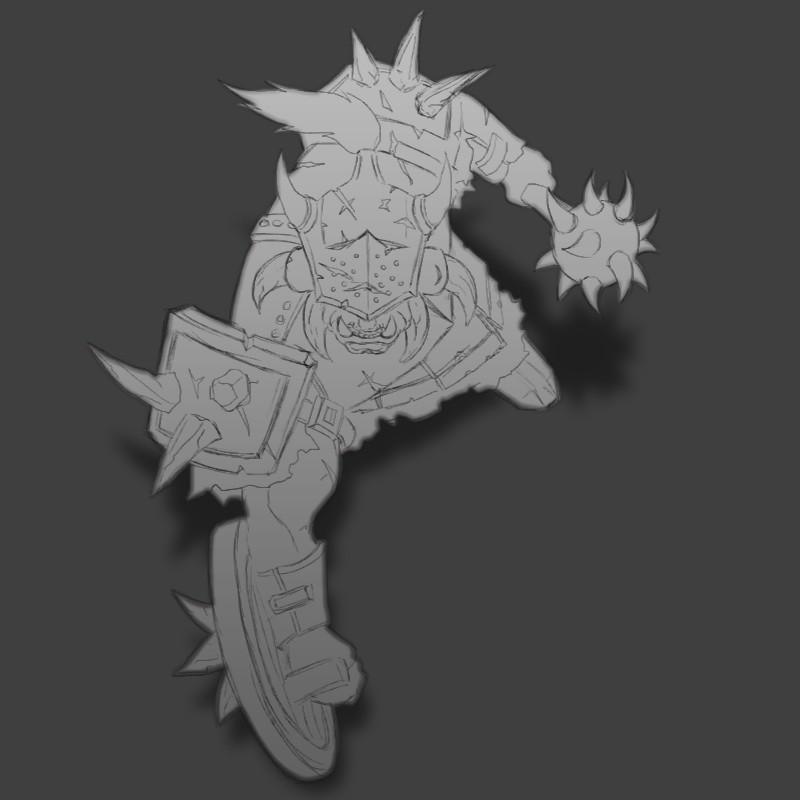 Orc Captain sketch