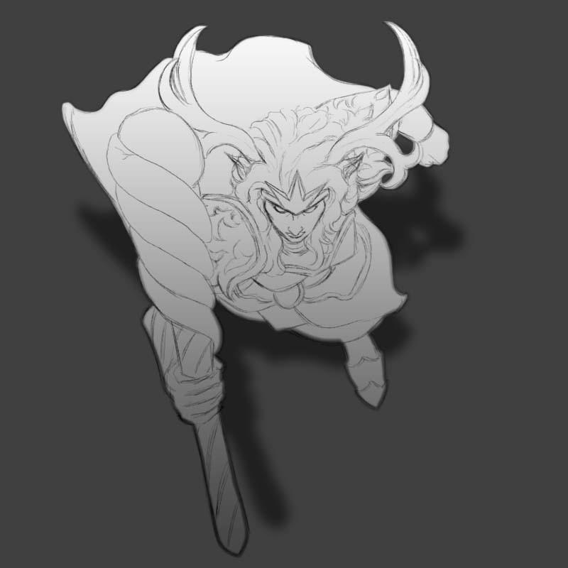 Female Elven Druid sketch