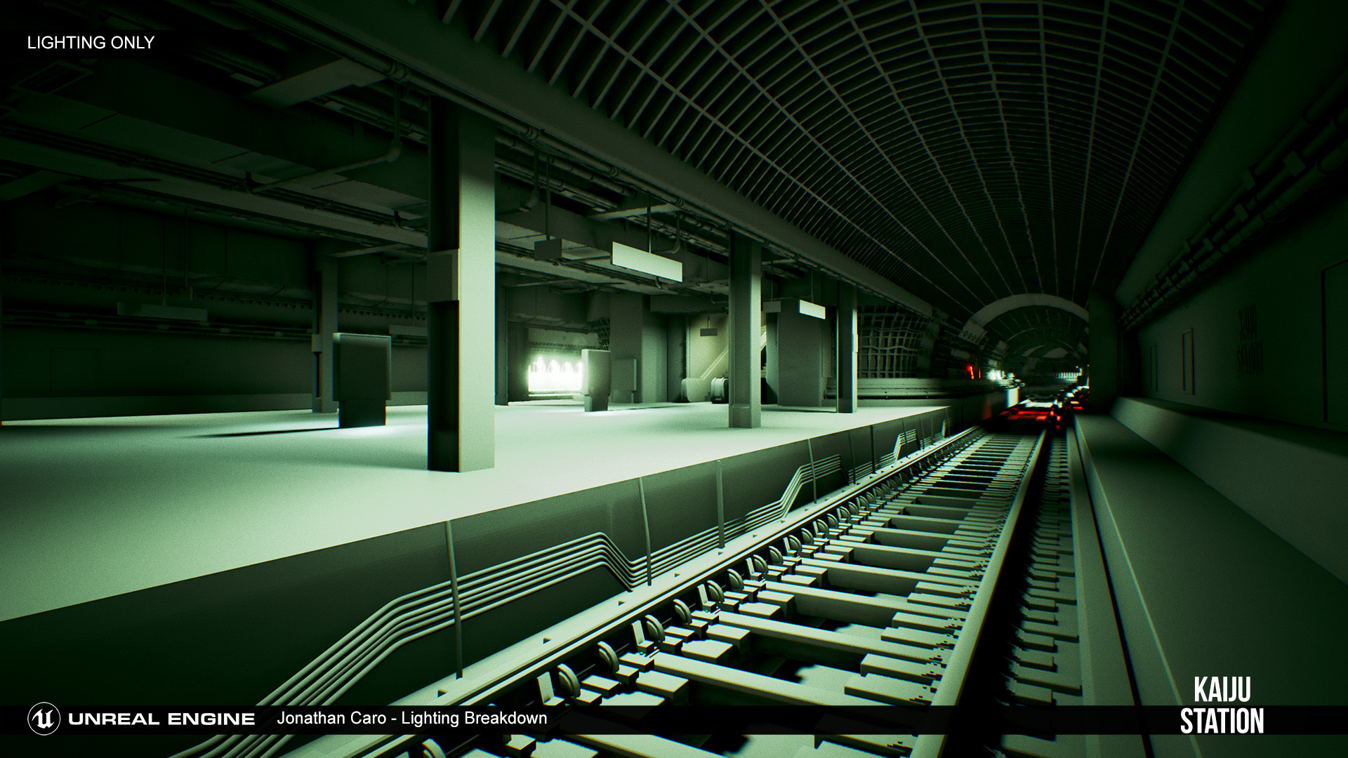 Lighting Only - Lit using distance field AO and skylight to fake GI bounce.