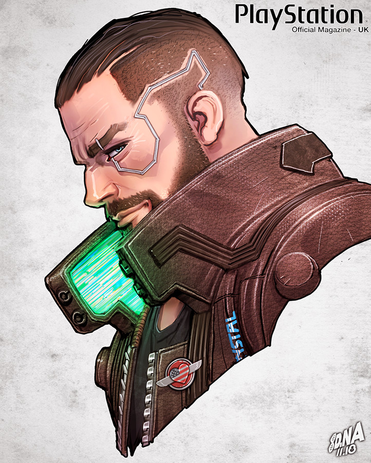 V from Cyberpunk 2077 detail