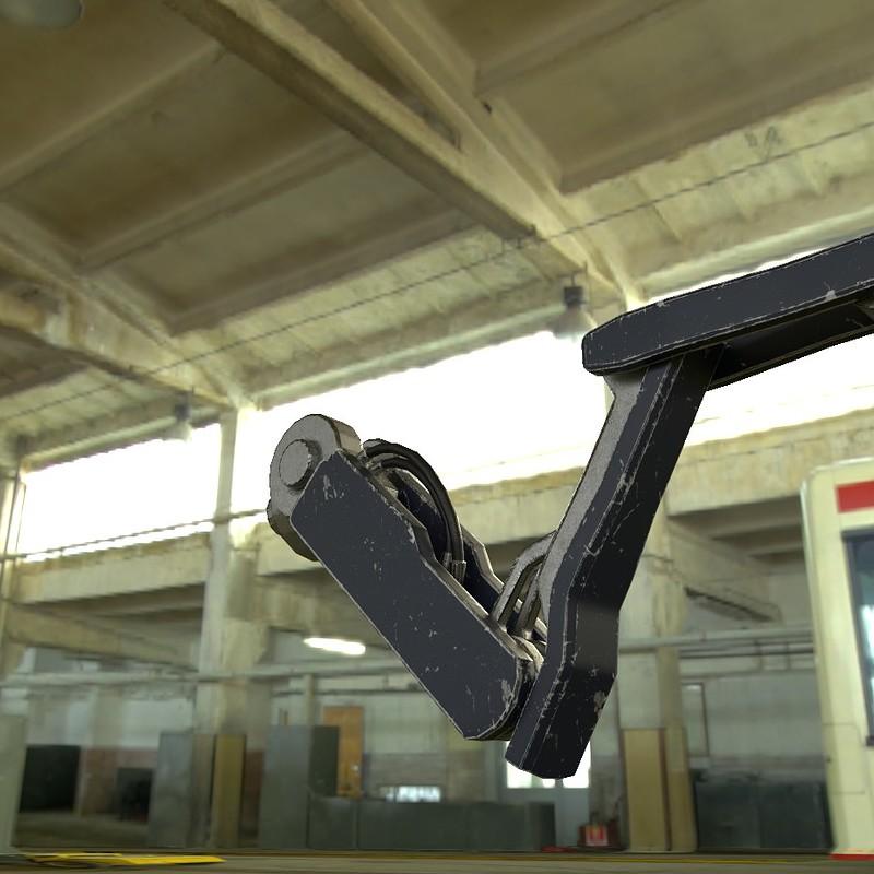 robot arm, shelf, airplane...etc