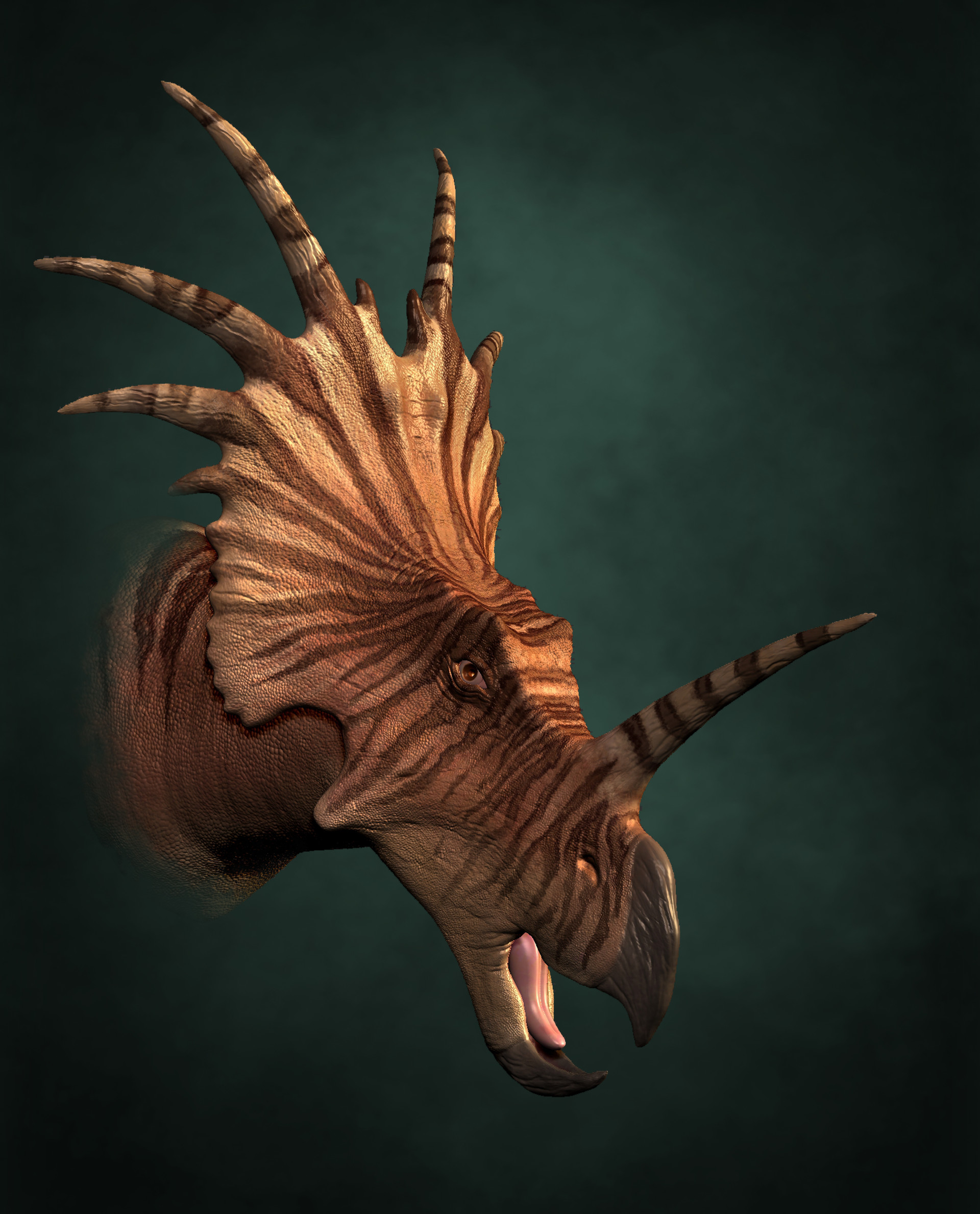 James bear styracosaurus