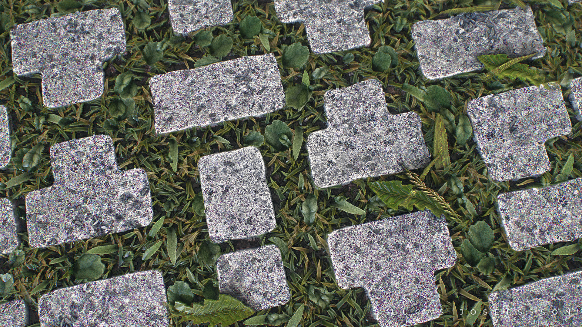 Lucas josefsson cobble with grass lucasjosefsson closeup 1