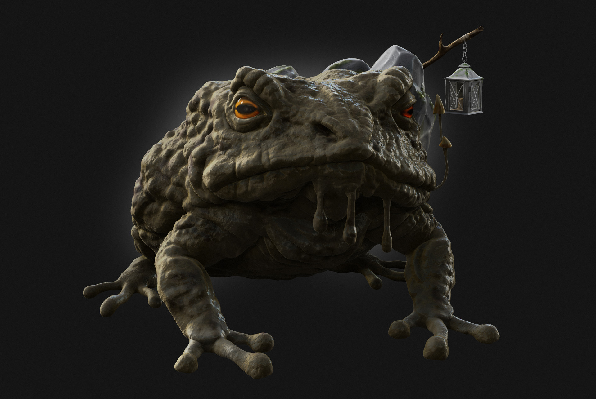 Fully rendered Toad