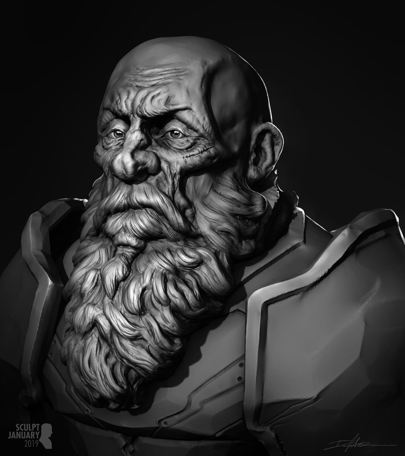 SCULPT JANUARY Day 10 - Beard