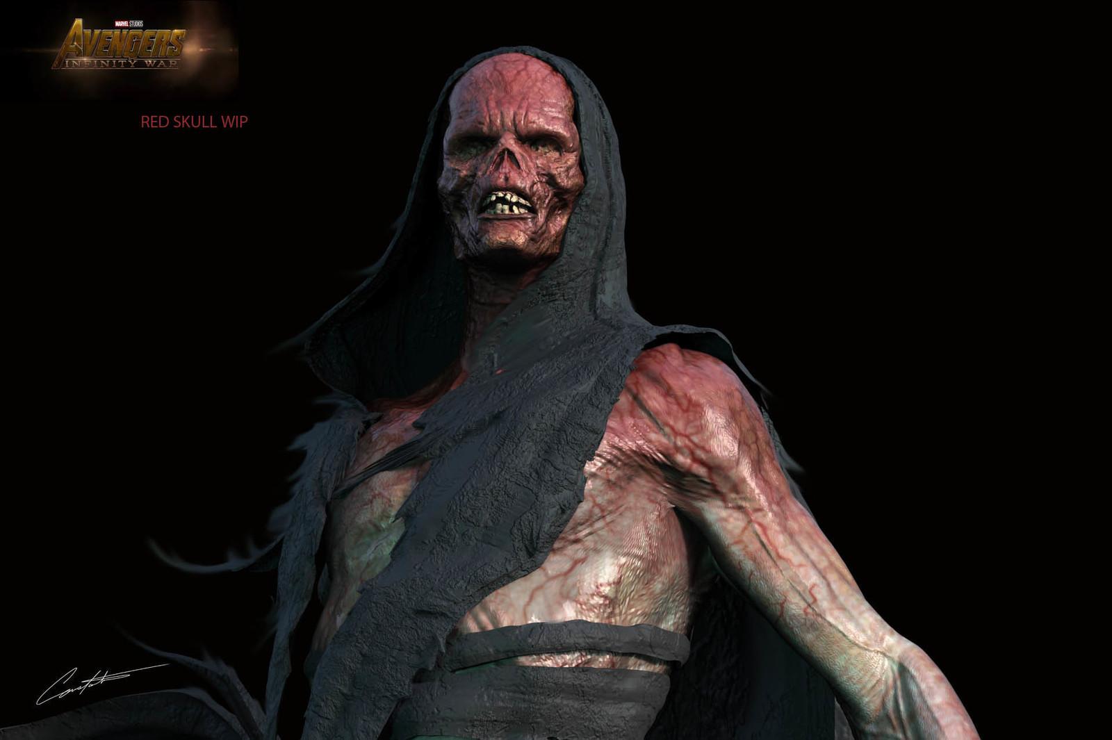 """Avengers Infinity War """"Red Skull"""" exploration design"""