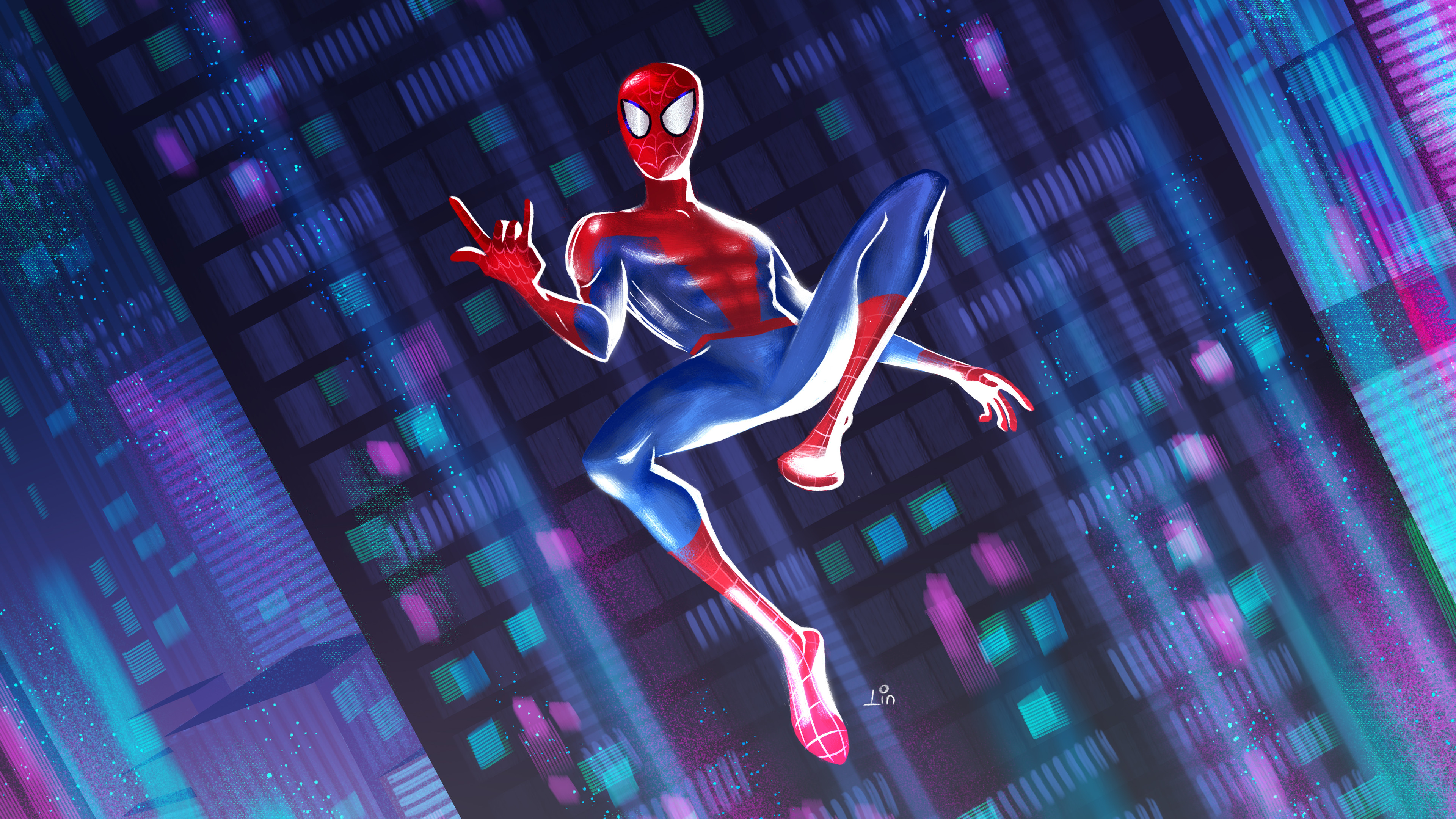 This is a fanart I drew to show the love for this animated movie! Spider-man : Into The Spider Verse is an inspiration!!!!!! You know, I am a fan of comic books, and really, such a joy and entertaining to watch it comes to life!!!