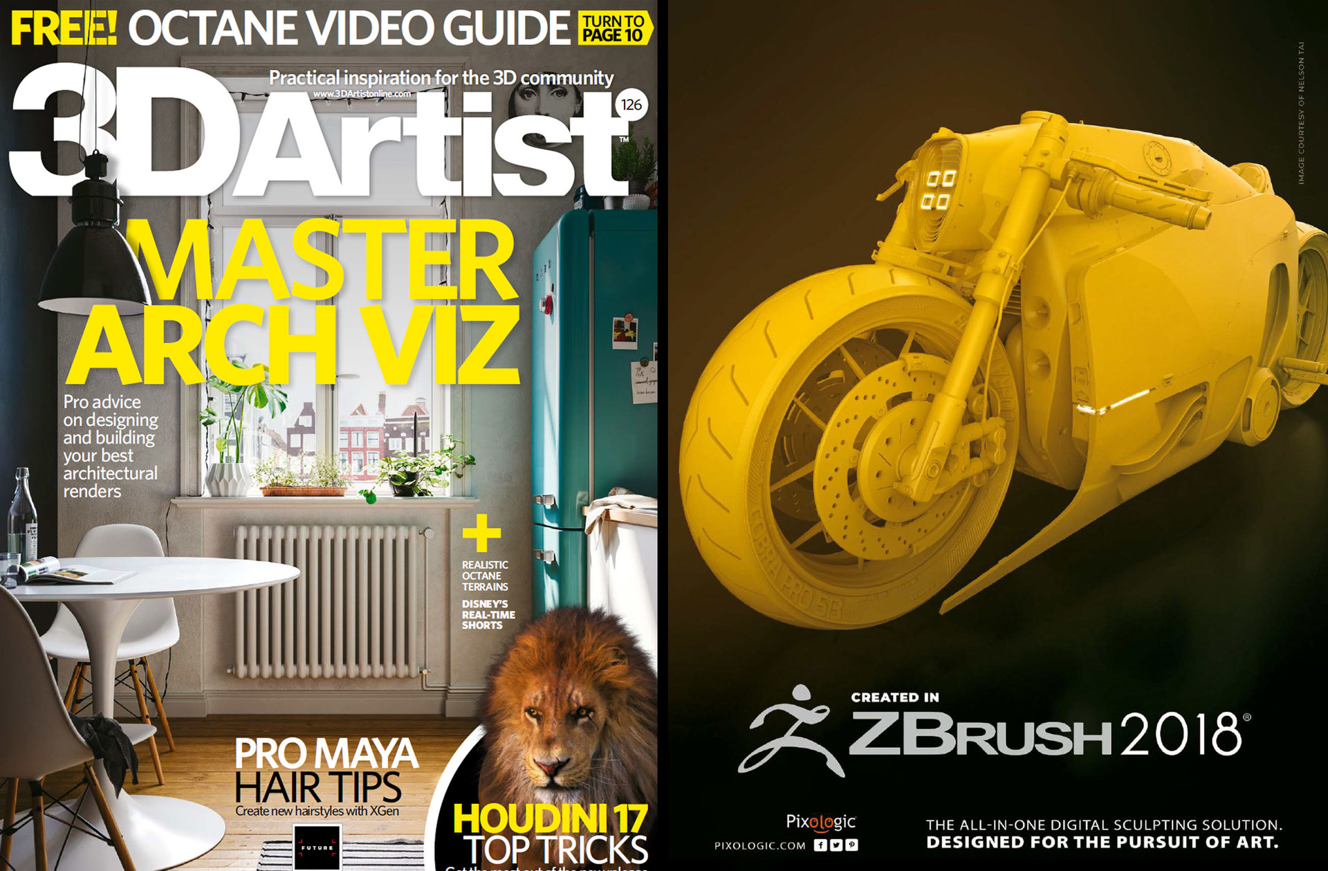 Featured on ZBrush's print ad on both ImagineFX and 3D Artist Magazine!