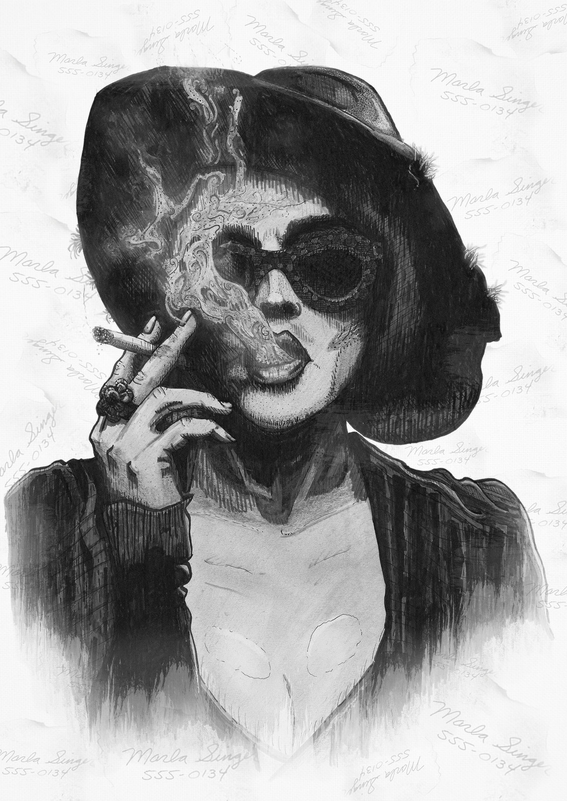 Marla Singer Illustration