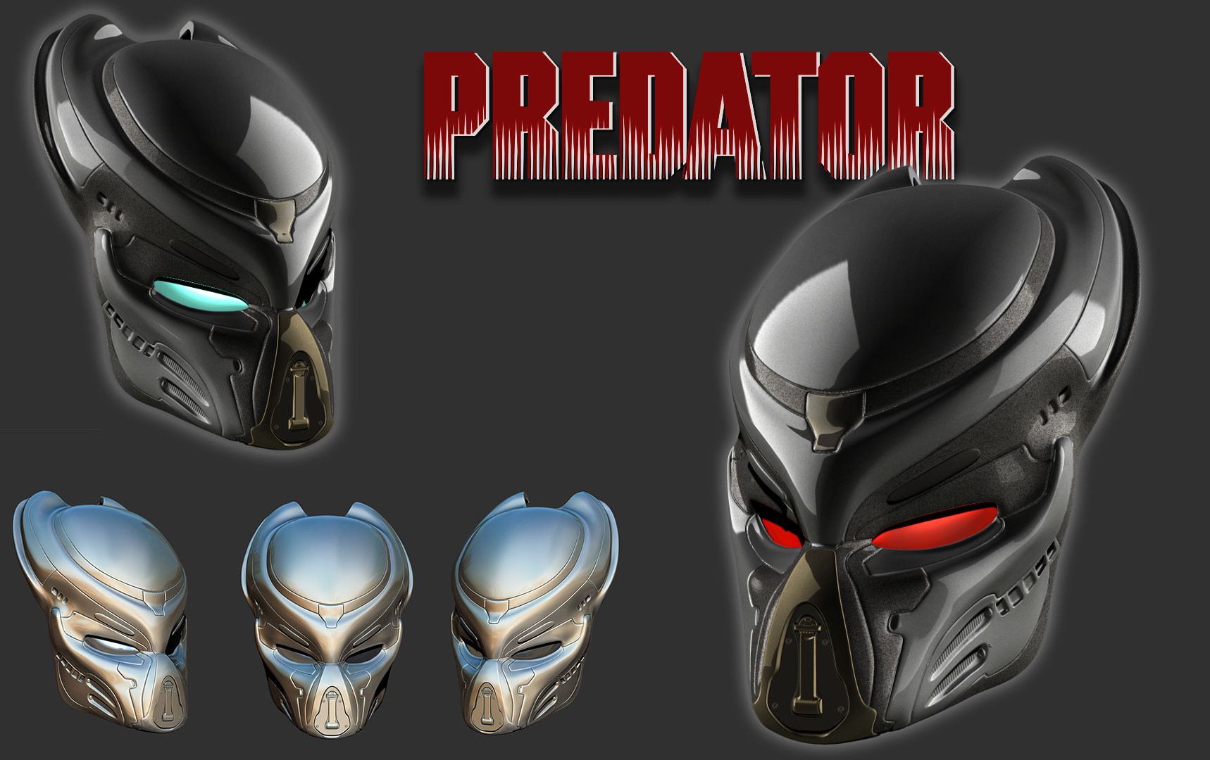 ArtStation - Fugitive Predator biomask, Marko Makaj