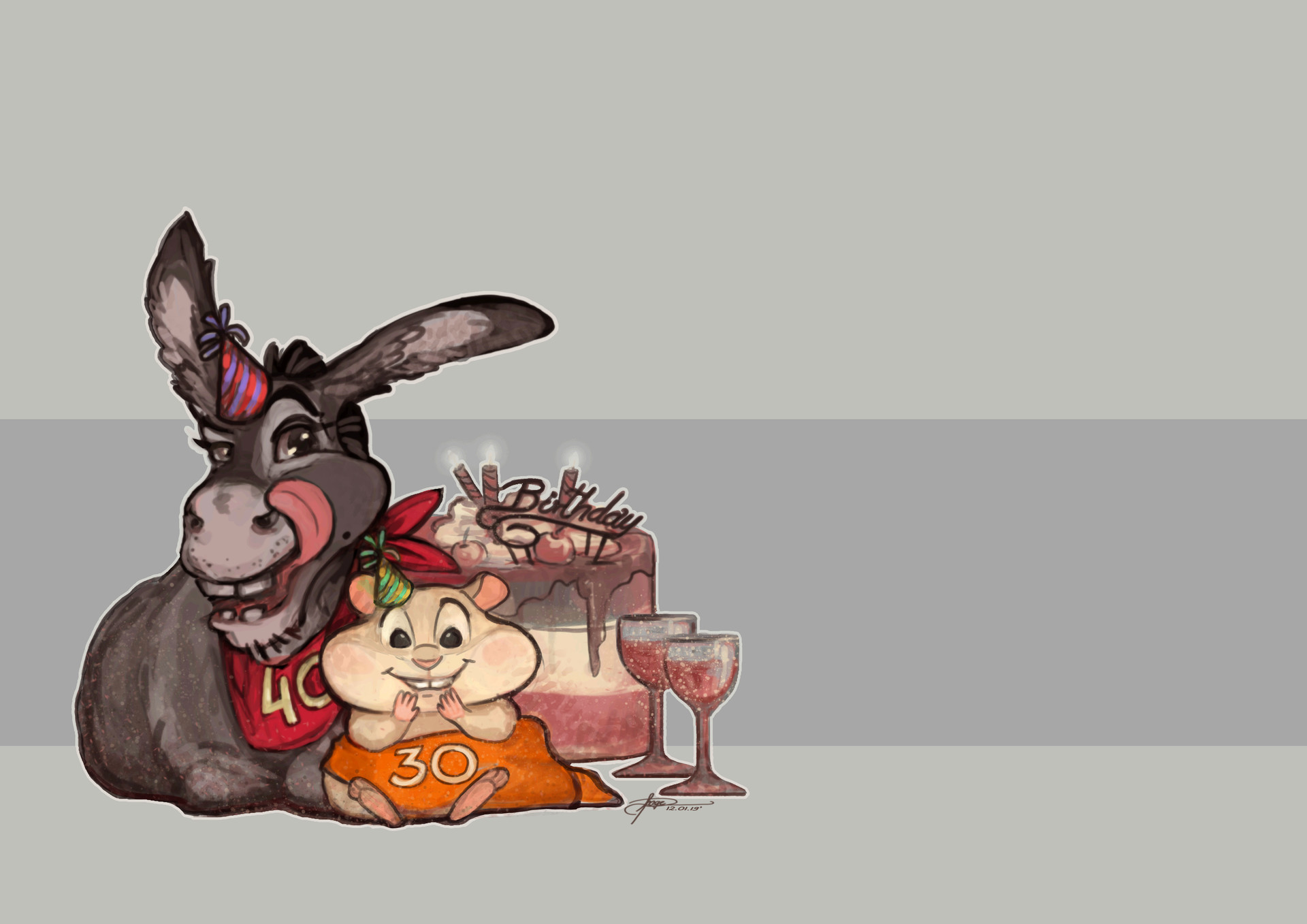 Angelica zurawski donkey and hamster party3