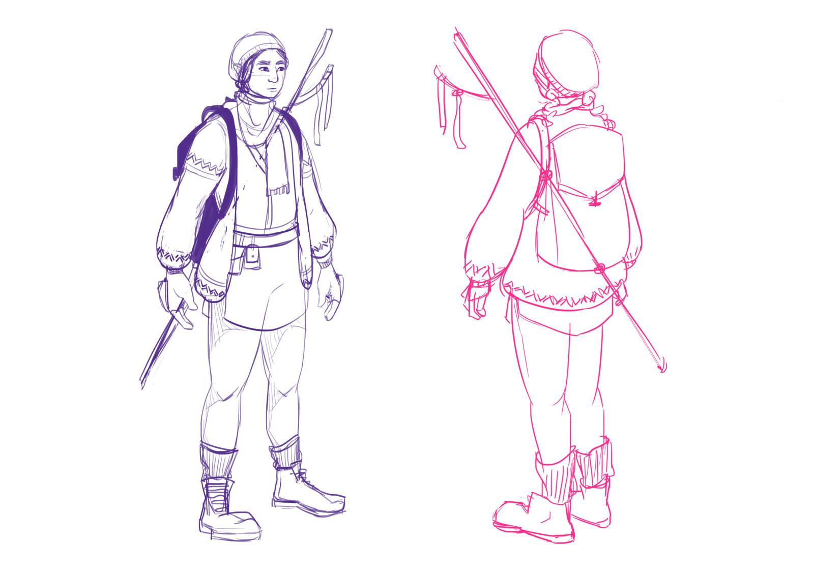 Nanu - Character turnaround (process)