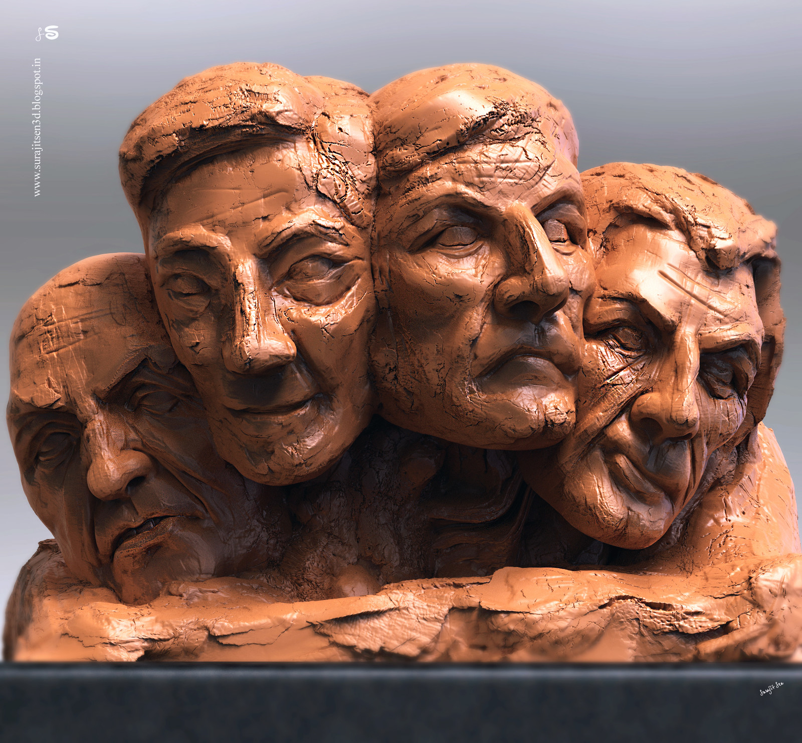 My old concept Digital sculpt.  Gathered. Played with clay and tools!  Wish to share