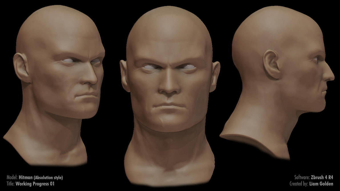 Liam golden hitman sculpt work in progress 01 by liamgolden d5ucydh pre
