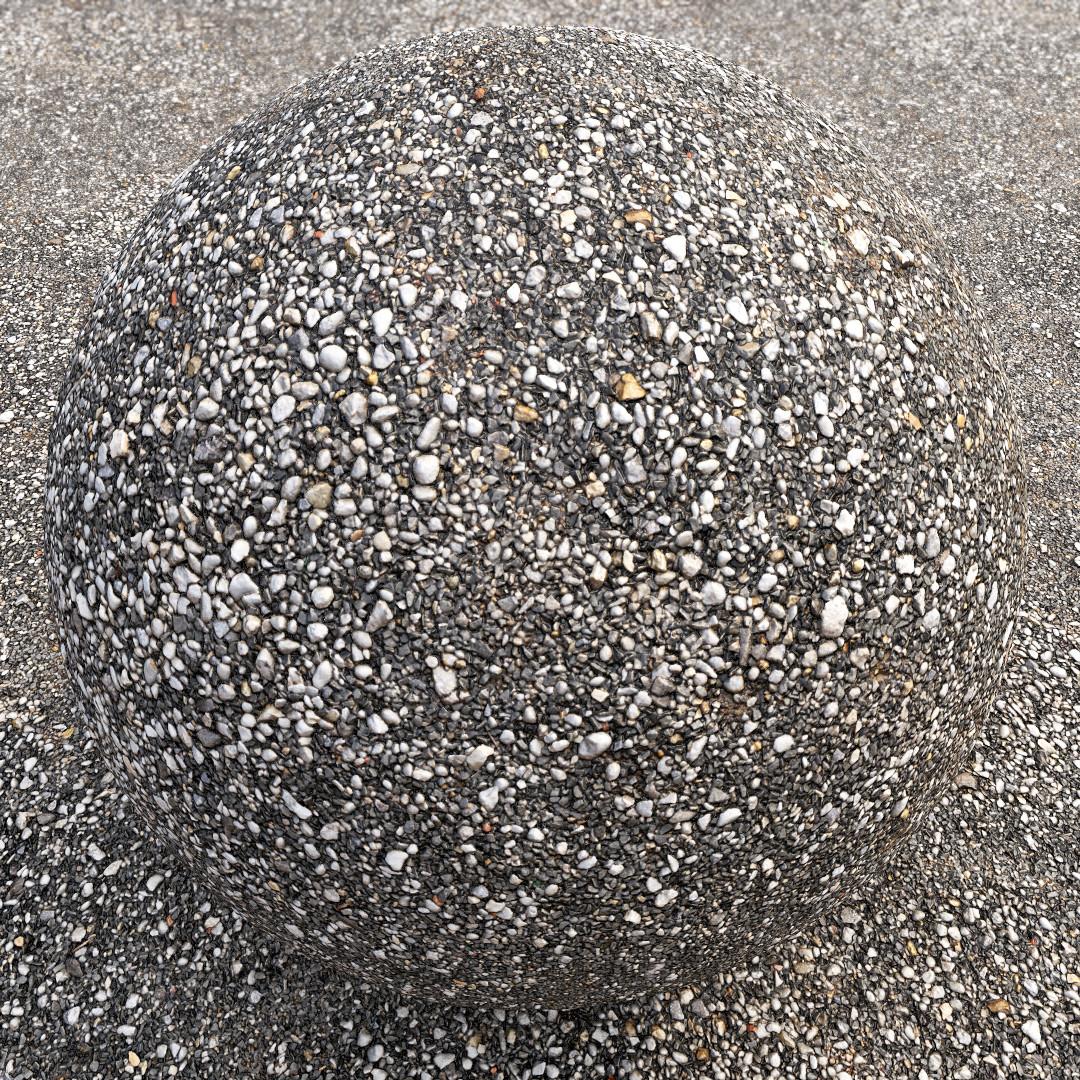 Gravel Photogrammetry Based Environment Texture