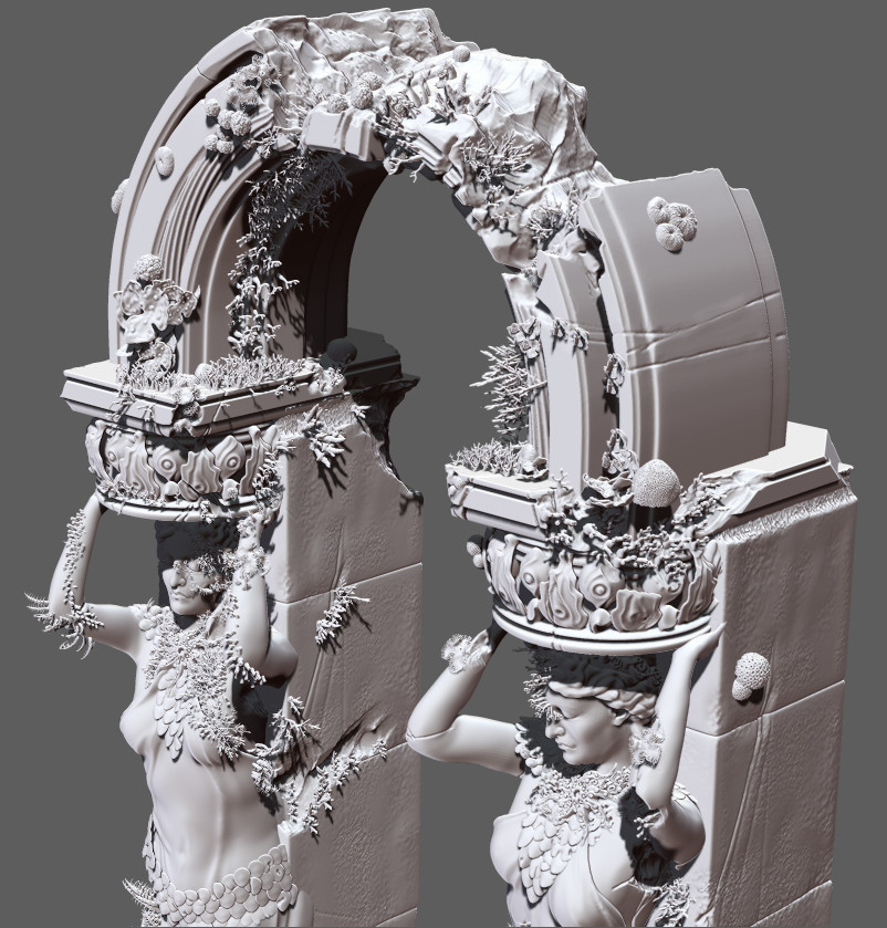 Caryatid ZBrush screengrab.