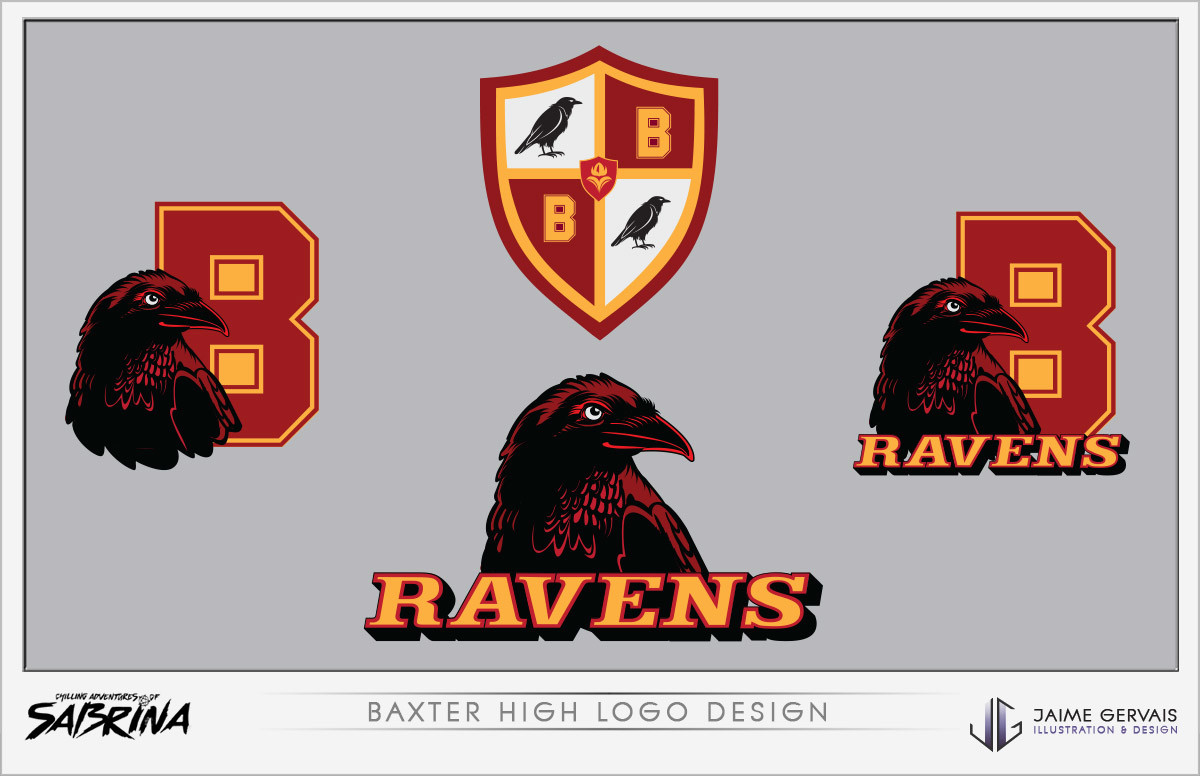 Jaime gervais baxter high logo design