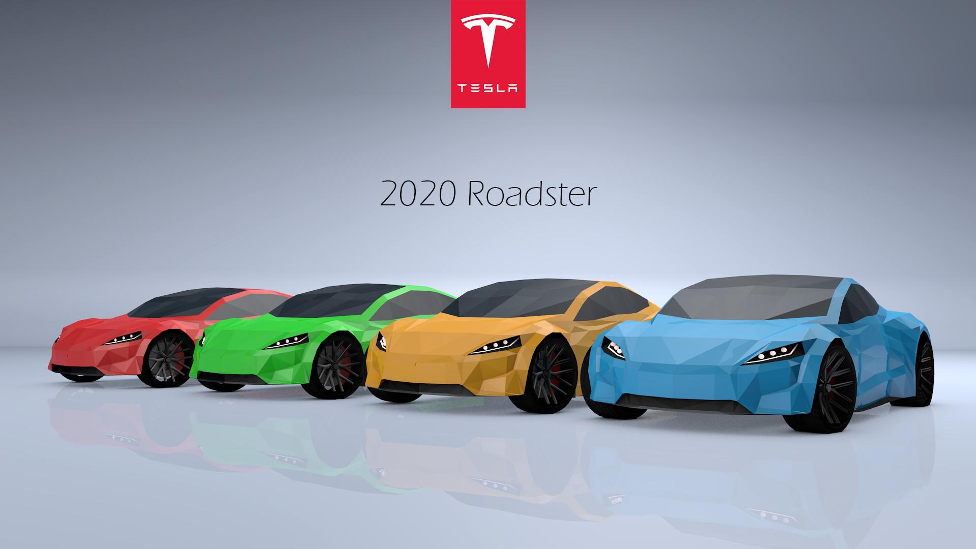 2020 Tesla Roadster >> Jaka Lozar Low Poly Tesla Roadster 2020
