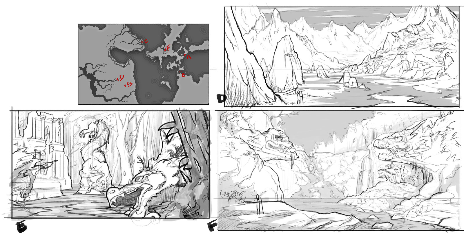 Enviroment concept art sketches 2