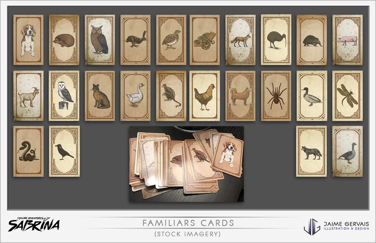 Jaime gervais sabrina familiars cards