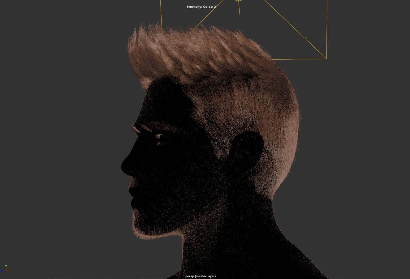 Maya Viewport  Snapshot  showing xgen hair