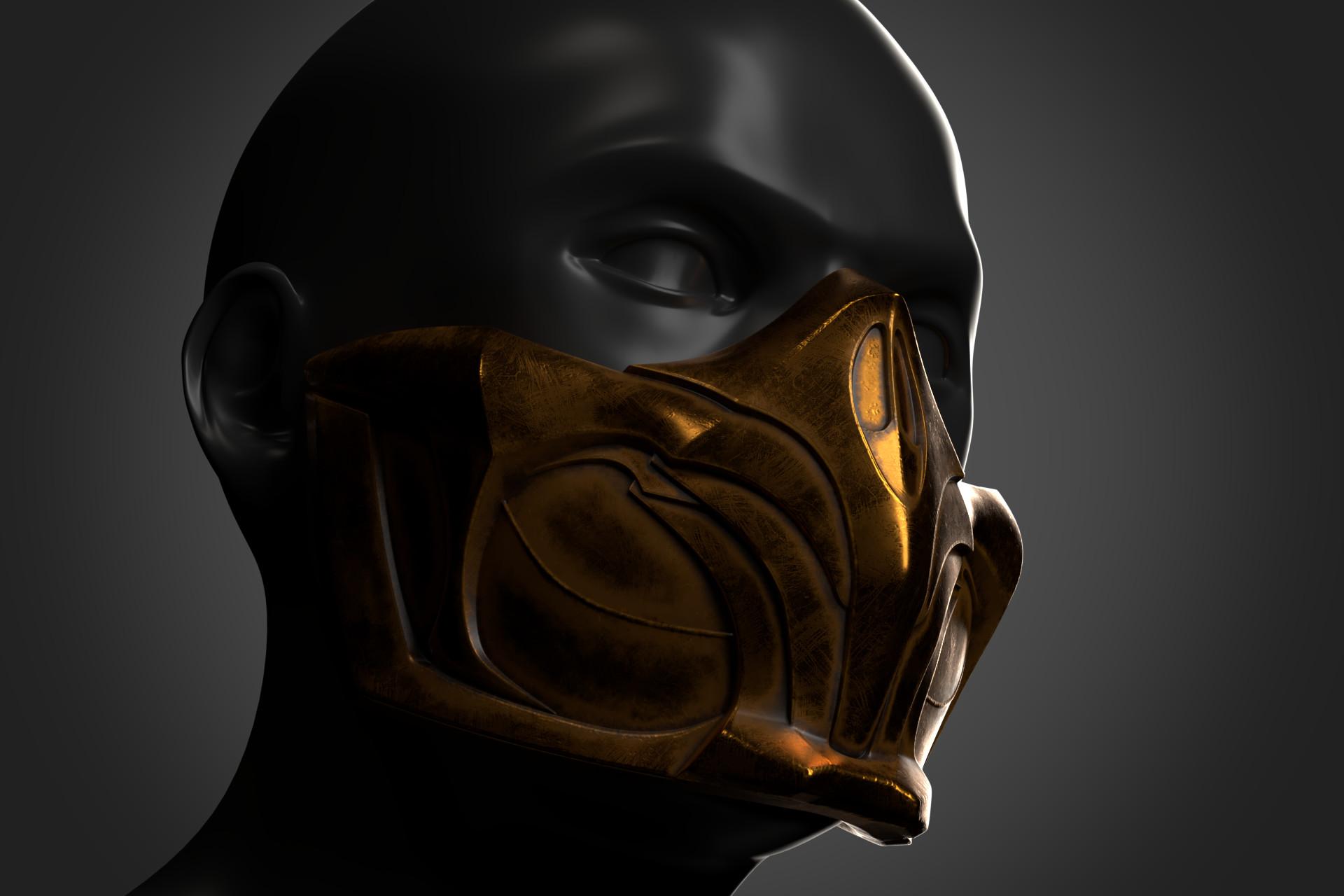 Artstation Scorpion Mask Alexander Rybalchenko