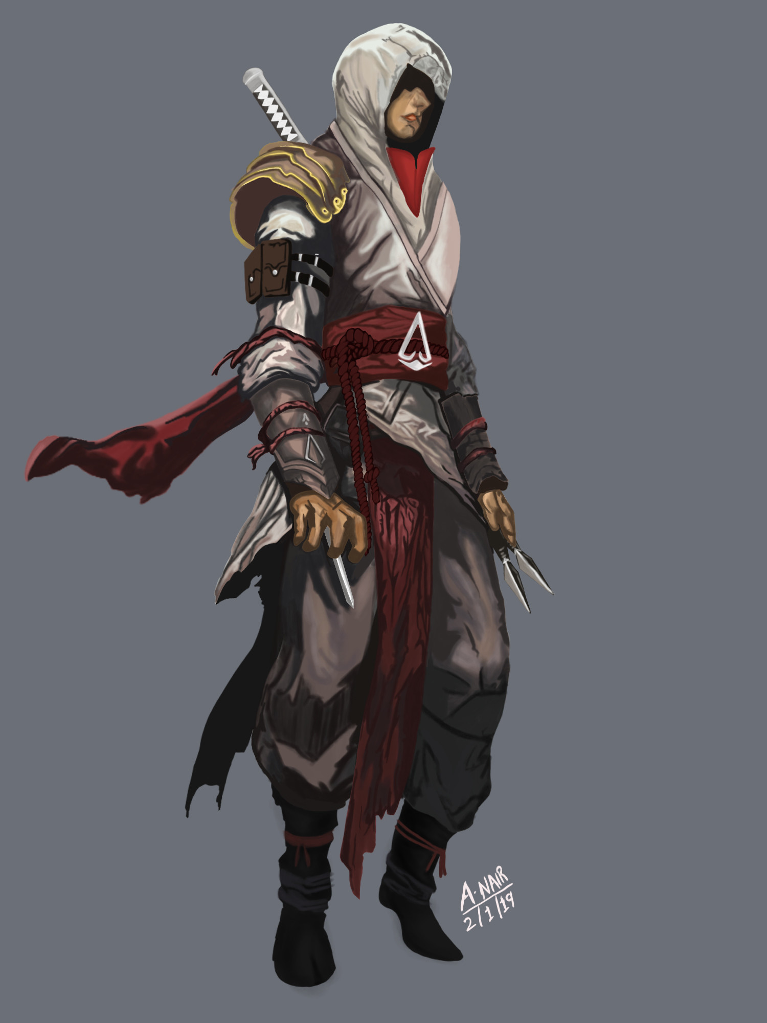 Artstation Assassins Creed Feudal Japan Character Concept Art