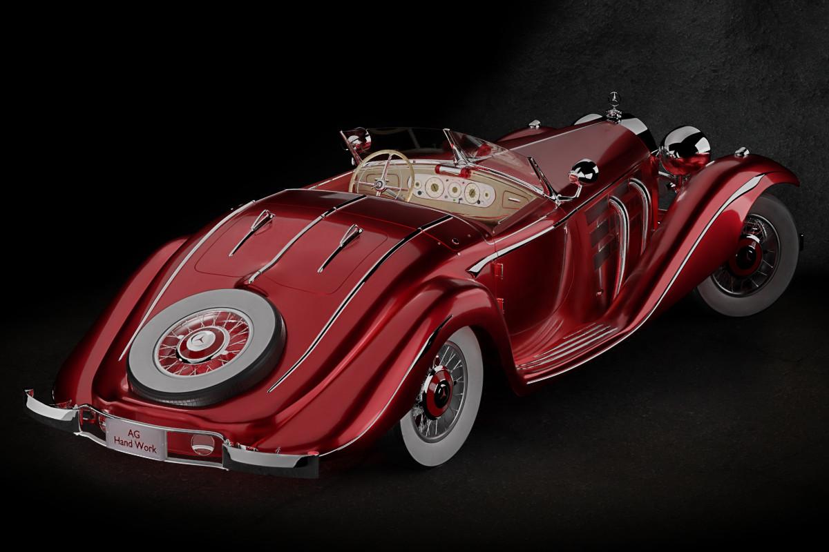 Anton golubov studio mb 540k special roadster by aghandwork