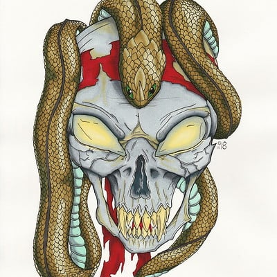 Nadia ulrich skull with snake