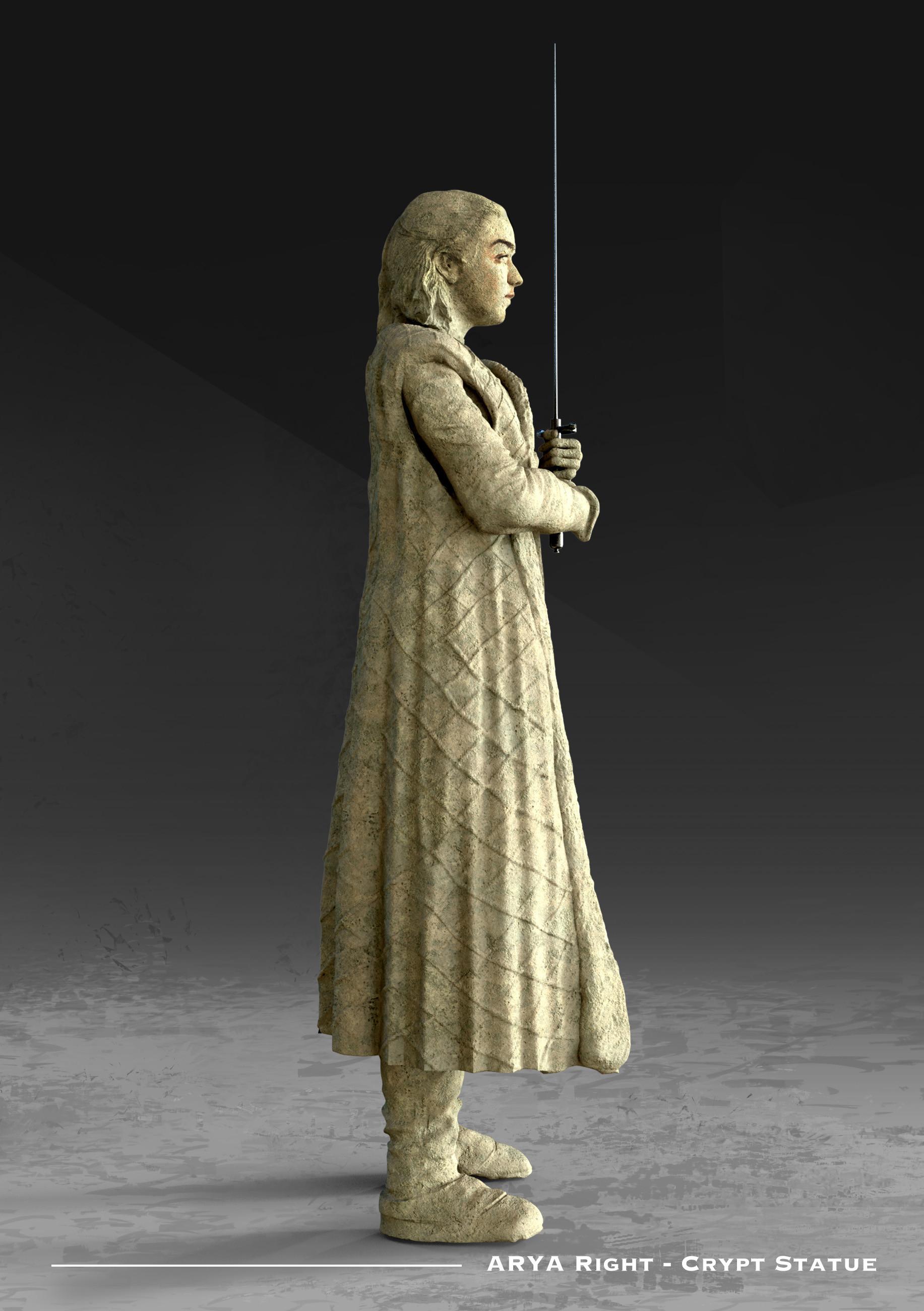 Kieran belshaw arya statue sideright v002