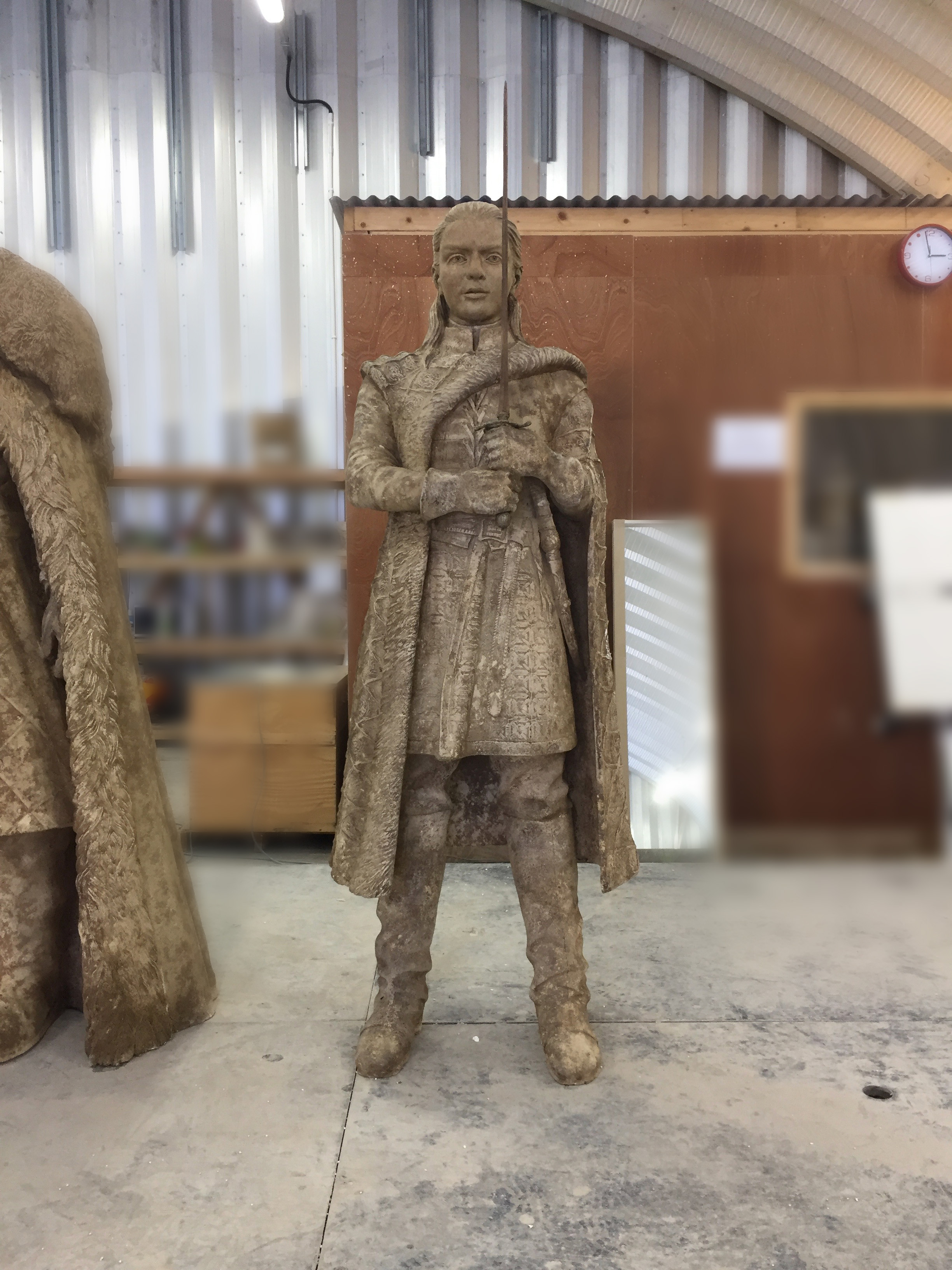 Arya Statue, original sculpted in clay by Darren and team!