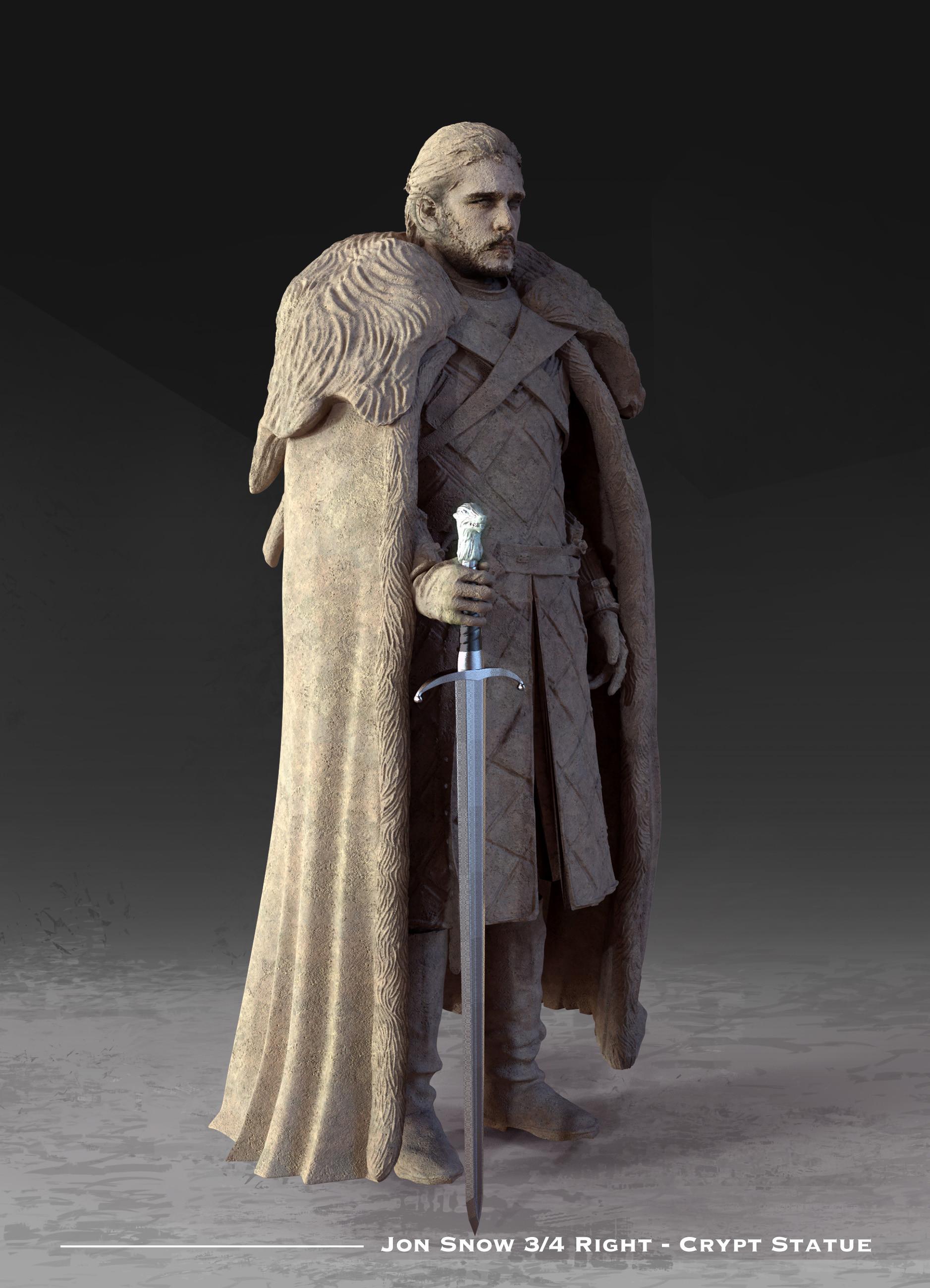 Kieran belshaw jon statue 3quarterright v001