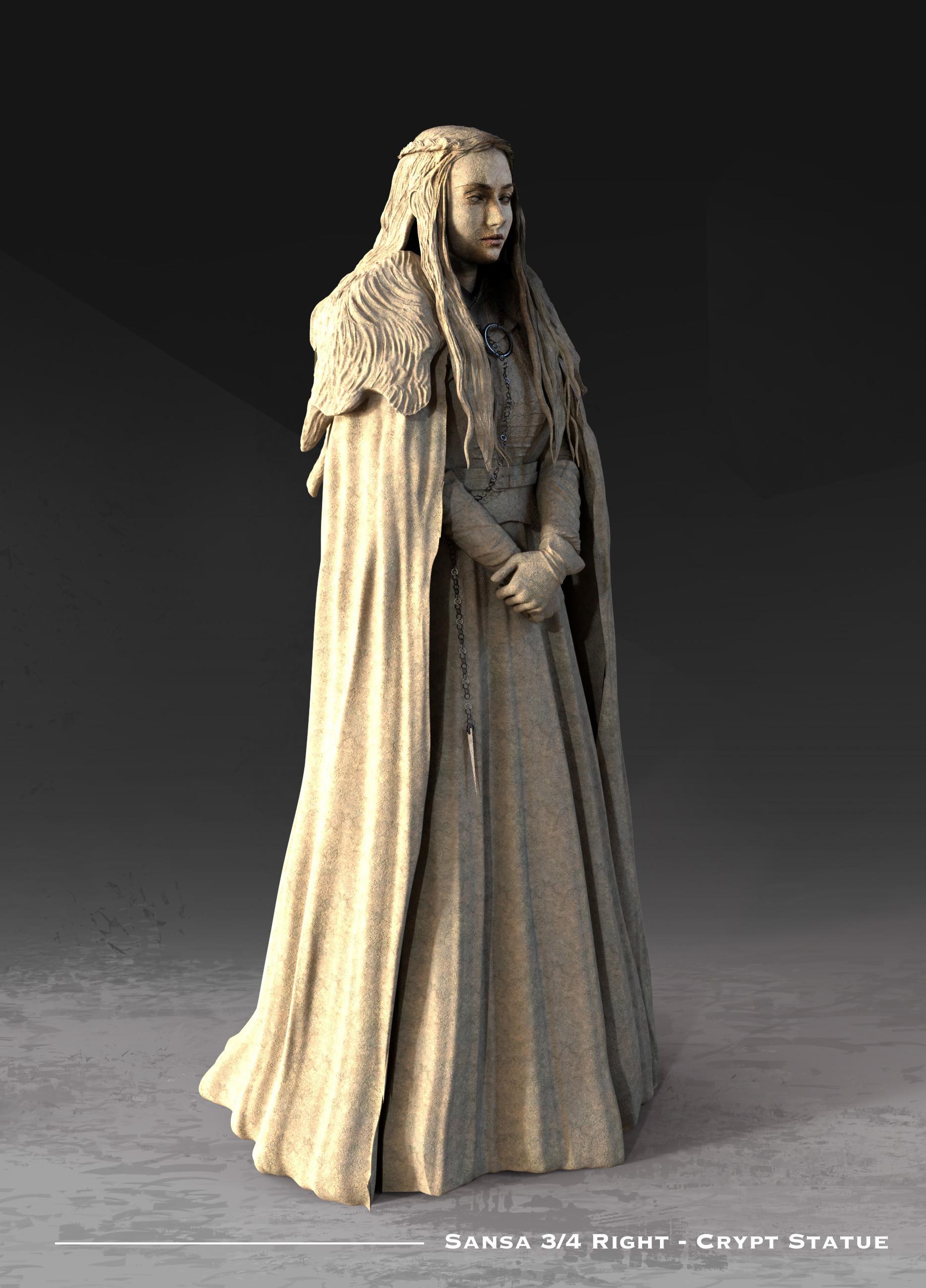Kieran belshaw sansa statue 3quarterright v001
