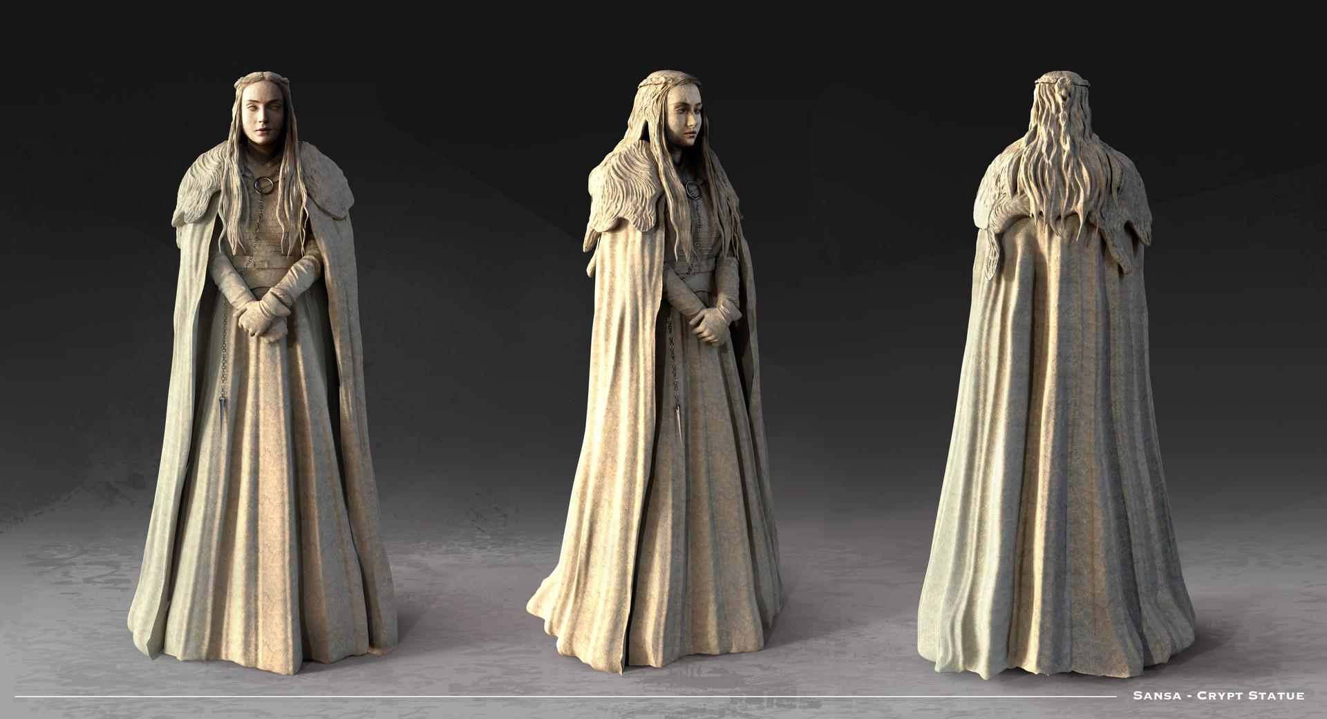 Kieran belshaw sansa statue v001