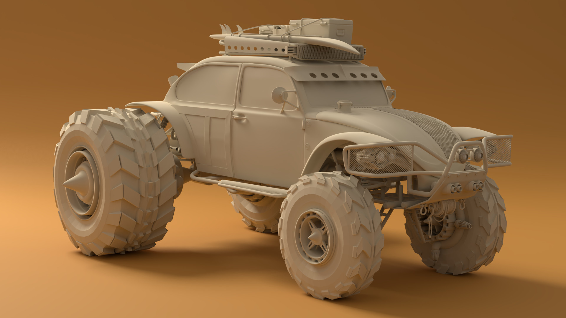 Baja Space Bug clay