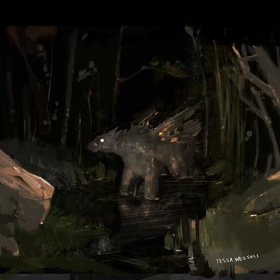 Tessa wessels dark creature 3 colour