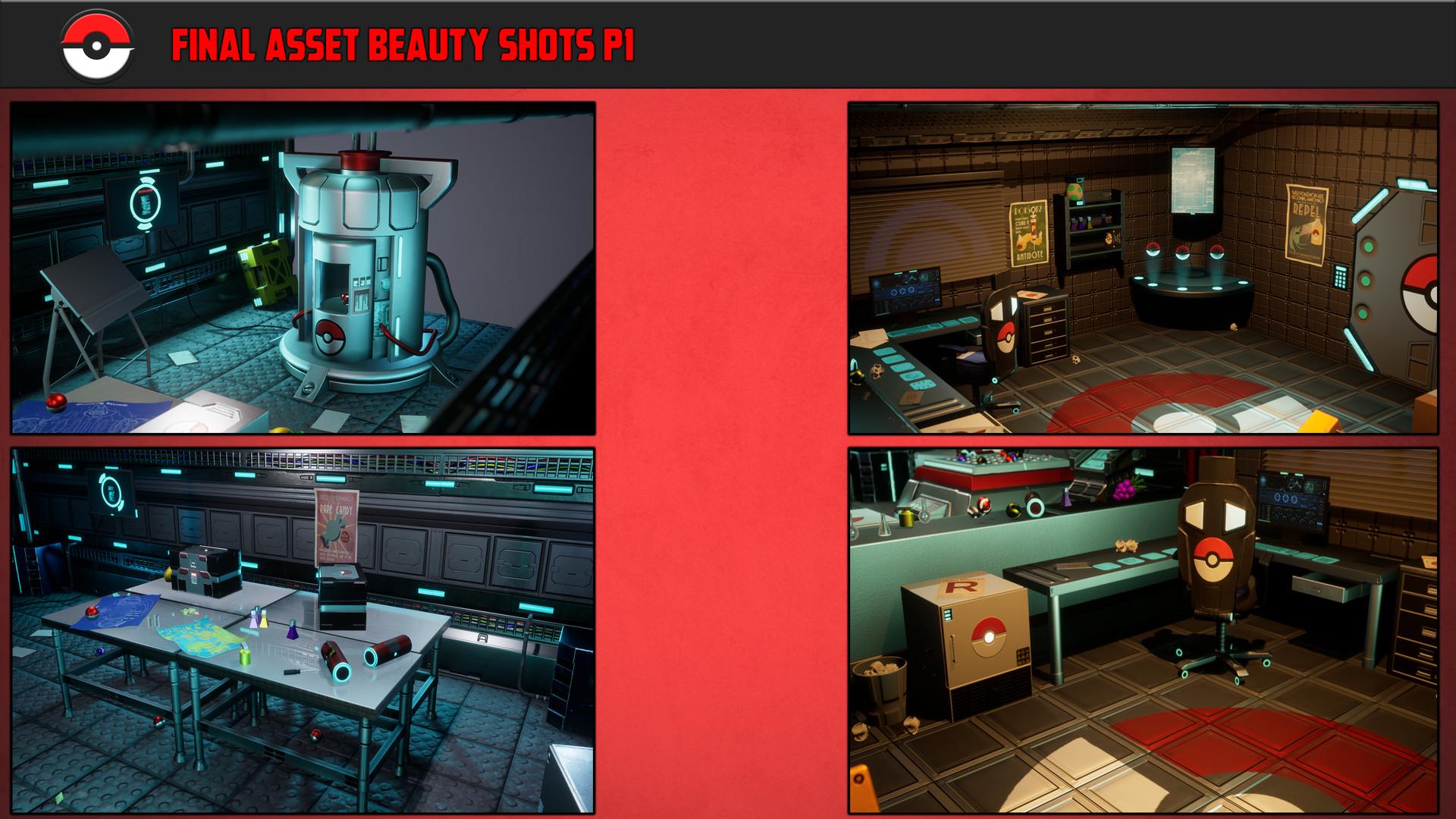 ArtStation - 3D Isometric Sci-fi Pokemon Research Lab (UE4