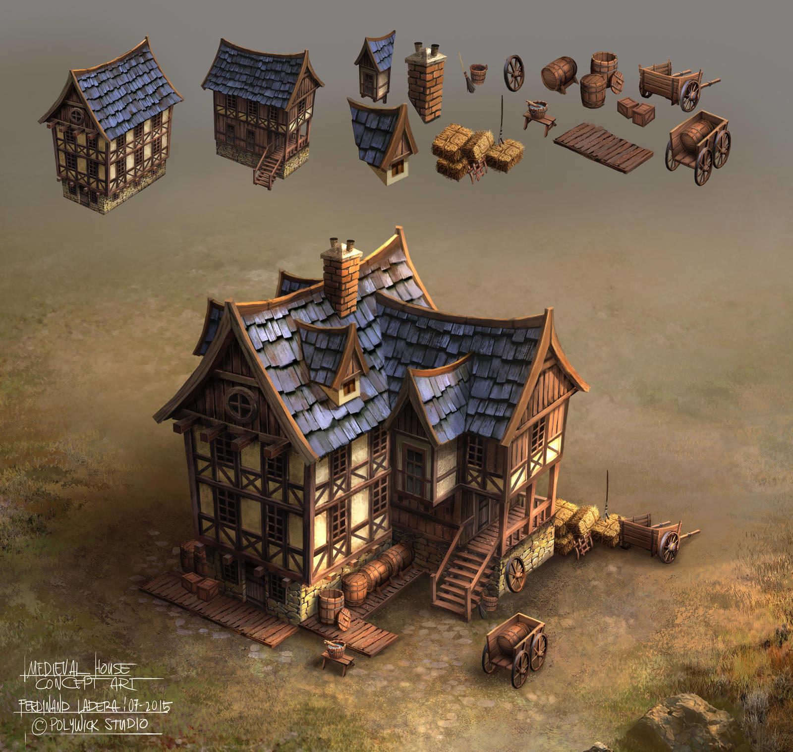 Ferdinand ladera medieval house conceptart