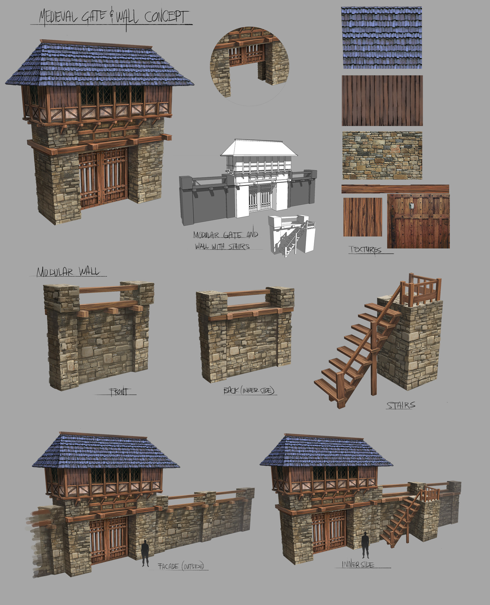 Ferdinand ladera medieval gate wall conceptart